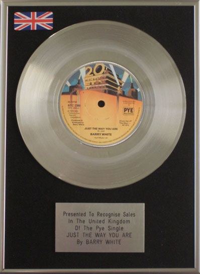Barry White 7 Platinum Disc Just The Way You Are