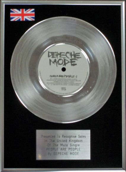 Depeche Mode 7 Platinum Disc People Are People
