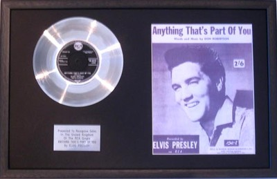 Elvis Presley 7 Platinum Disc Amp Songsheet Anything