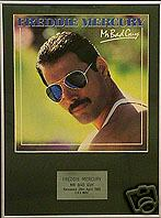 FREDDIE MERCURY -  MR BAD GUY  -   Framed LP Cover