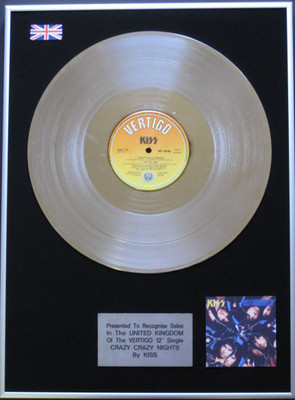 Kiss 12 Platinum Disc Crazy Crazy Nights