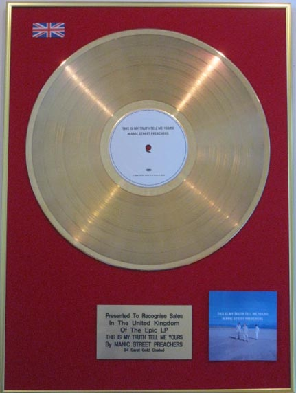 Manic Street Preachers Lp Gold Disc This Is My Truth