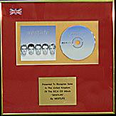 WESTLIFE  - CD Album Award -  'WESTLIFE'