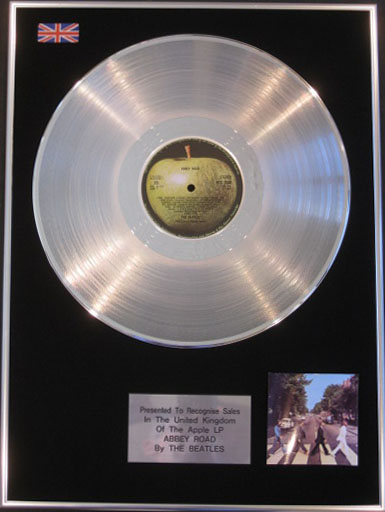 The Beatles Abbey Road Lp Platinum Disc