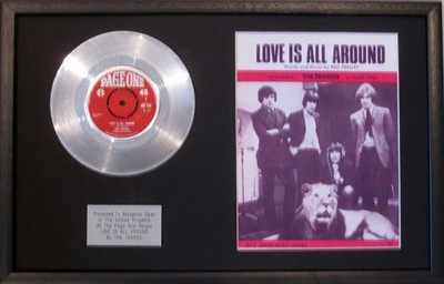 Troggs Platinum Disc Amp Song Sheet Love Is All Around